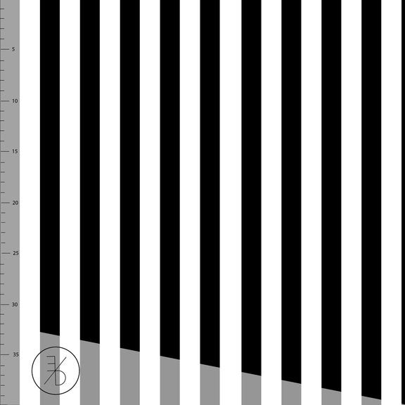 Vertical Stripes Organic Jersey, B&W by Elvelyckan Design