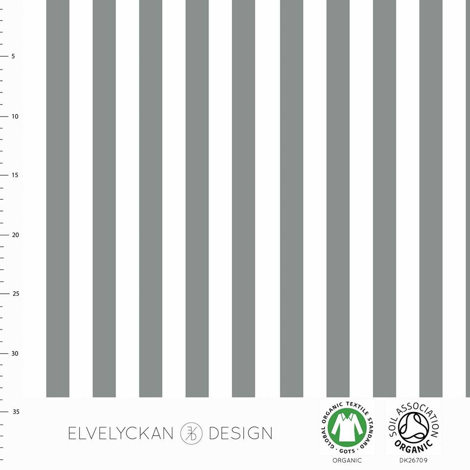 Vertical Stripes Organic Stretch French Terry, Gray-White by Elvelyckan Design