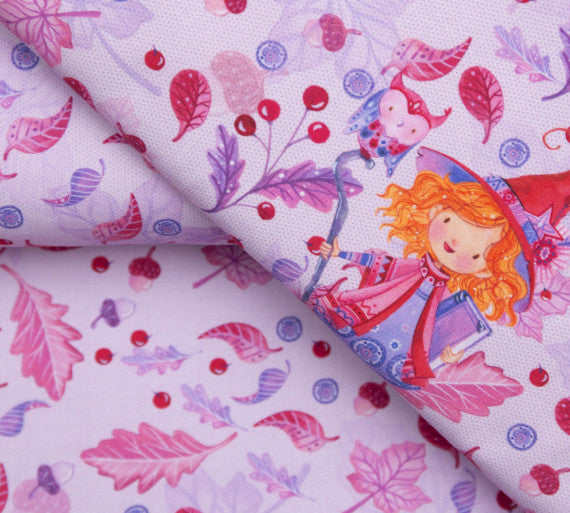 Wildblume Little Witch Stretch French Terry, Lavender