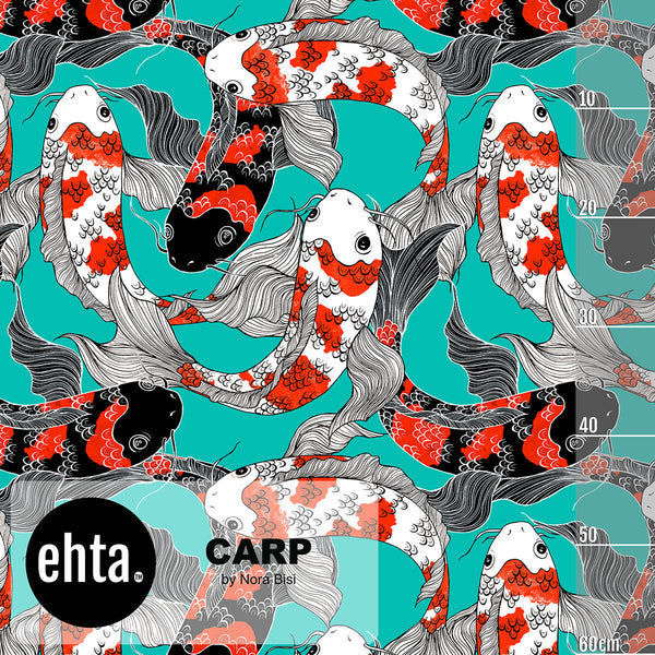 Carp Organic Jersey, Turquoise by Ehta