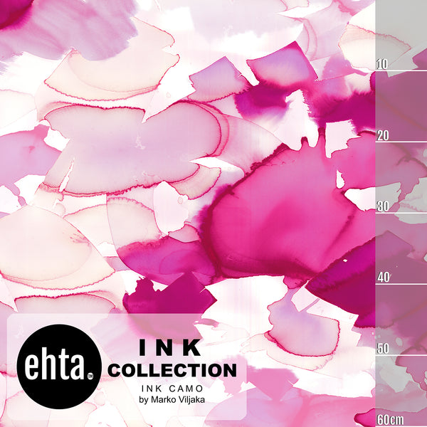 Ink Camo Organic Jersey, Pink by Ehta