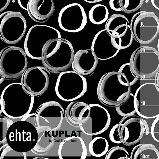 Kuplat Organic Stretch French Terry, Black by Ehta