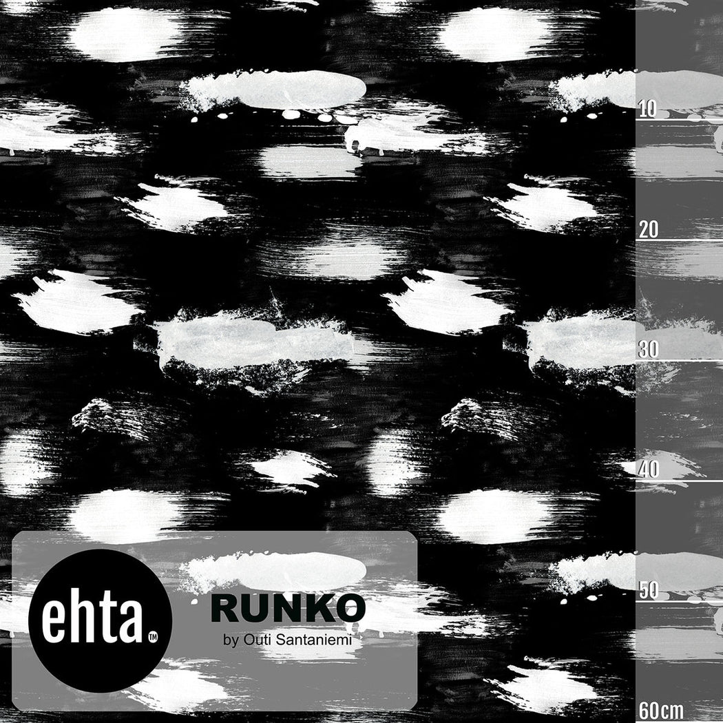 Runko Organic Stretch French Terry, Black by Ehta