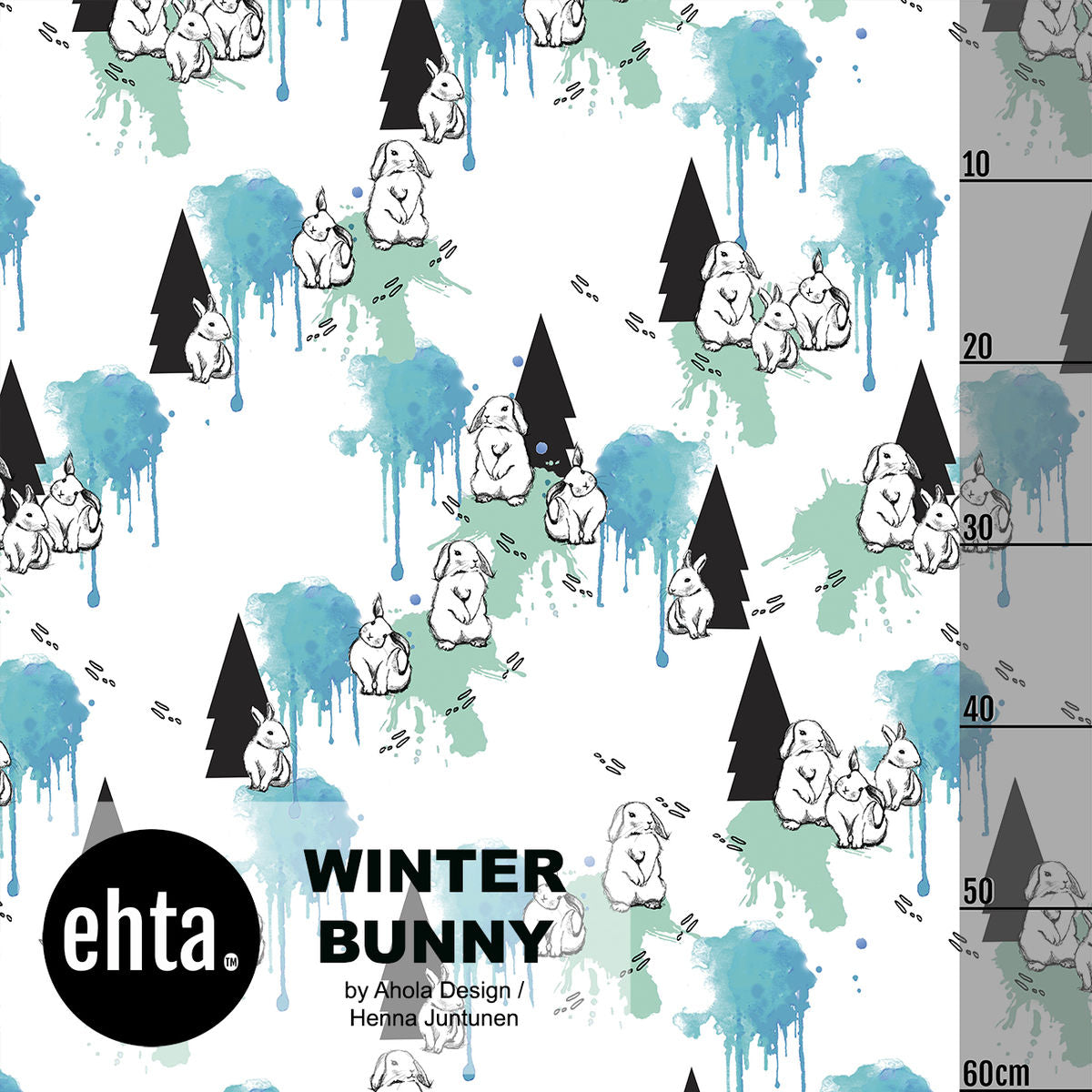 Winter Bunny Organic Jersey, White by Ehta
