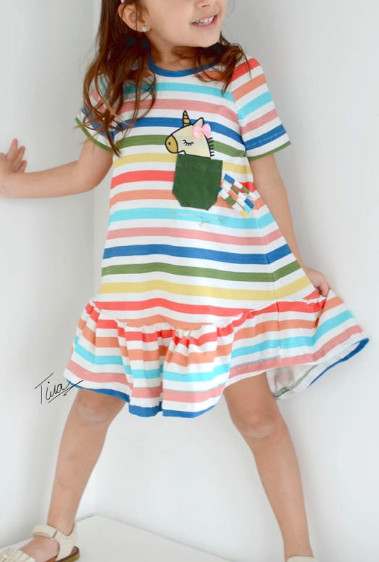 Ahoi Stripes Jersey, Rainbow Rose