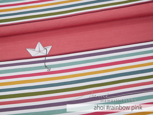 Ahoi Stripes Jersey RAPPORT, Rainbow Pink