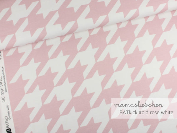 Batkick Jersey, Old Rose-White by Mamasliebchen