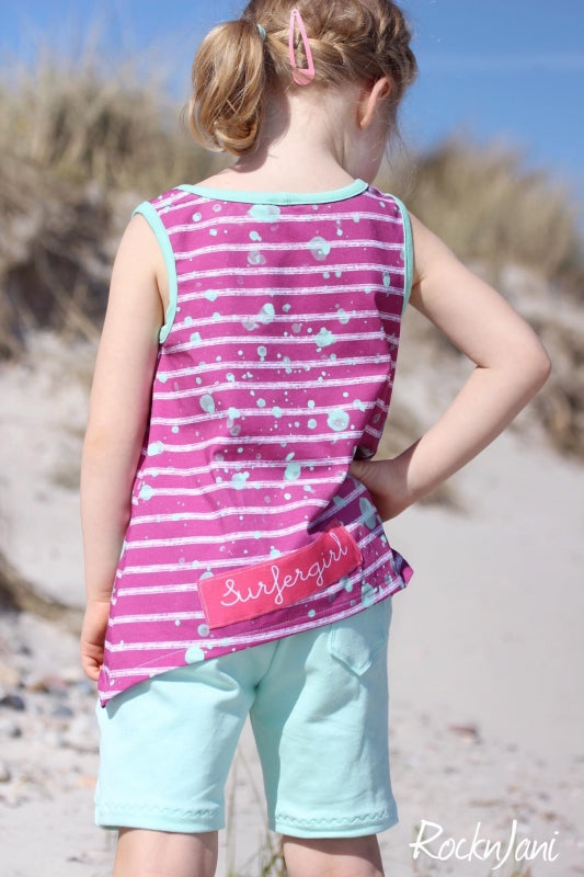 Beach Stripes Jersey, Mauve by Mamasliebchen