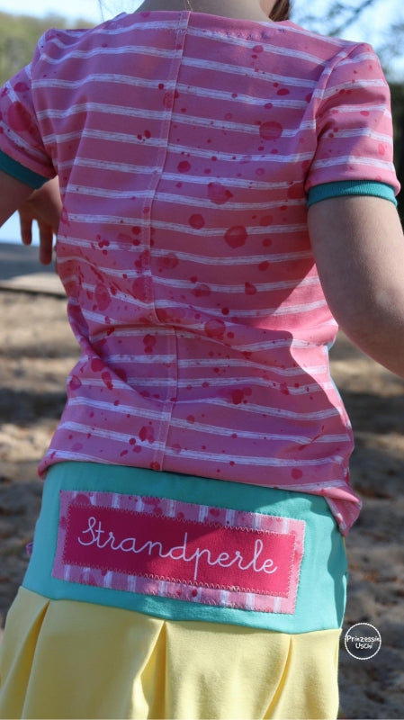 Beach Stripes Jersey, Pink by Mamasliebchen