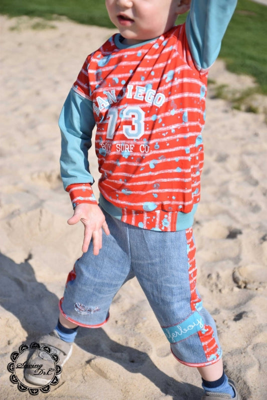 Beach Stripes Jersey, Red by Mamasliebchen