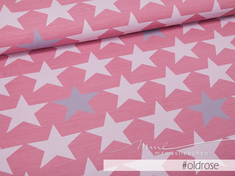 Big Stars Jersey, Old Rose by Mamasliebchen