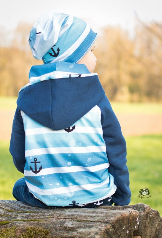 By The Sea Anchors Jersey, Blue by Mamasliebchen