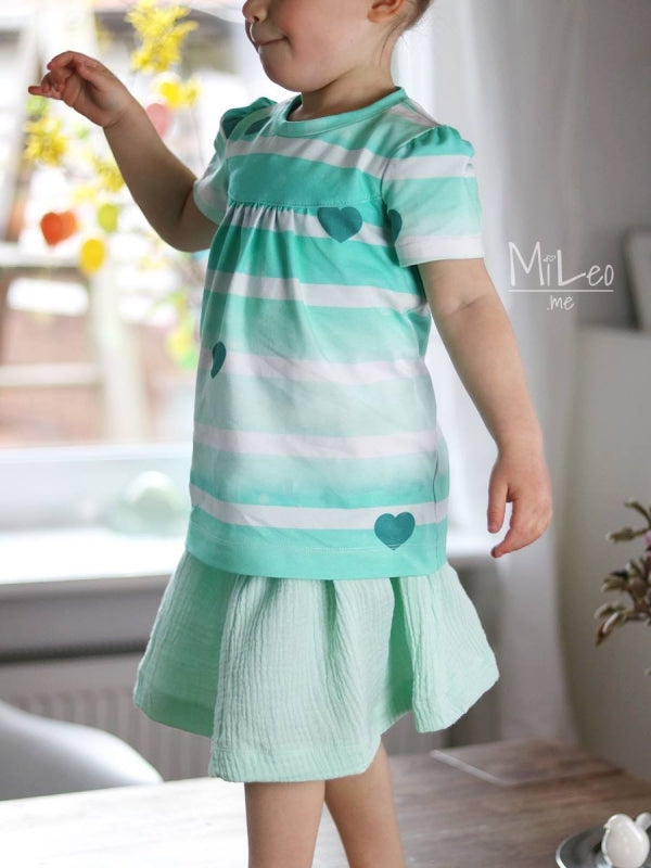 By The Sea Hearts Jersey, Mint by Mamasliebchen