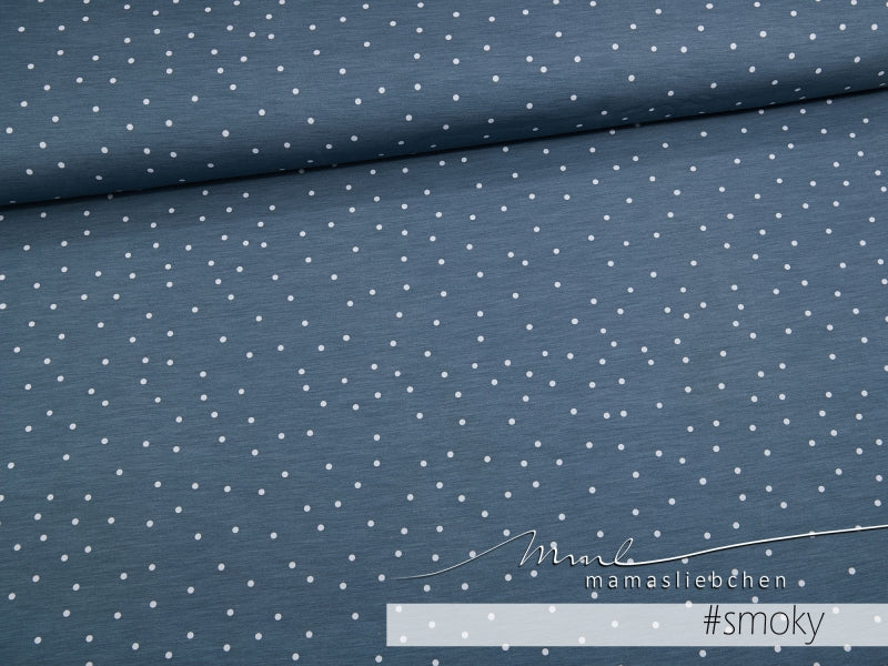Sweetheart Dots Jersey, Smoky Sky