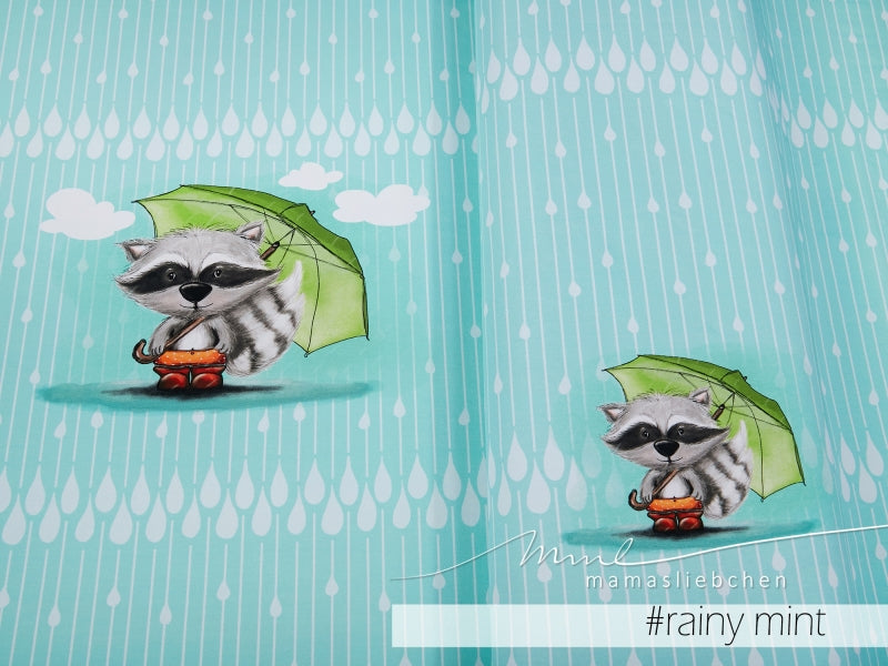 Bo Rainy Day Stretch French Terry Rapport, Mint by Mamasliebchen