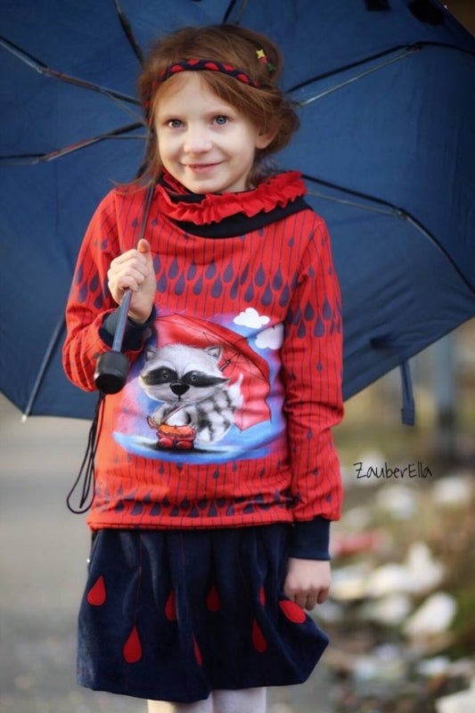 Bo Rainy Day Stretch French Terry Rapport, Red by Mamasliebchen