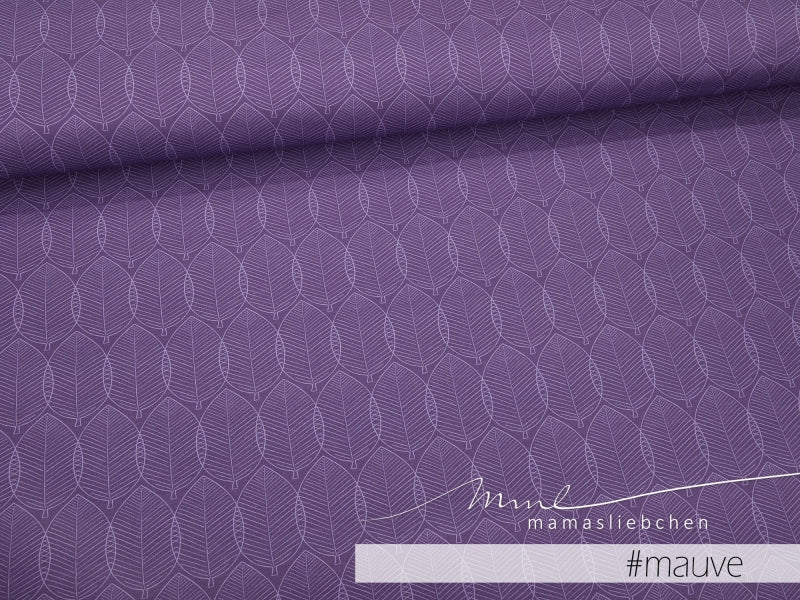 Herbst Mellows Stretch French Terry, Mauve