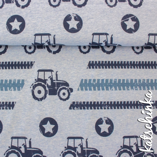 Tractor Tour Organic Jersey RAPPORT, Gray-Blue by Katschinka