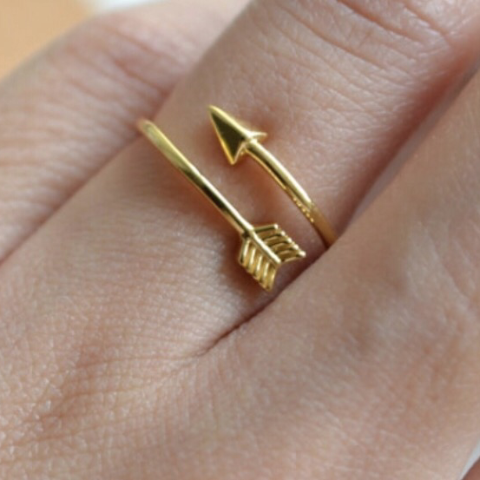 Arrow Ring - 18K Gold, Silver and Rose Gold Plated