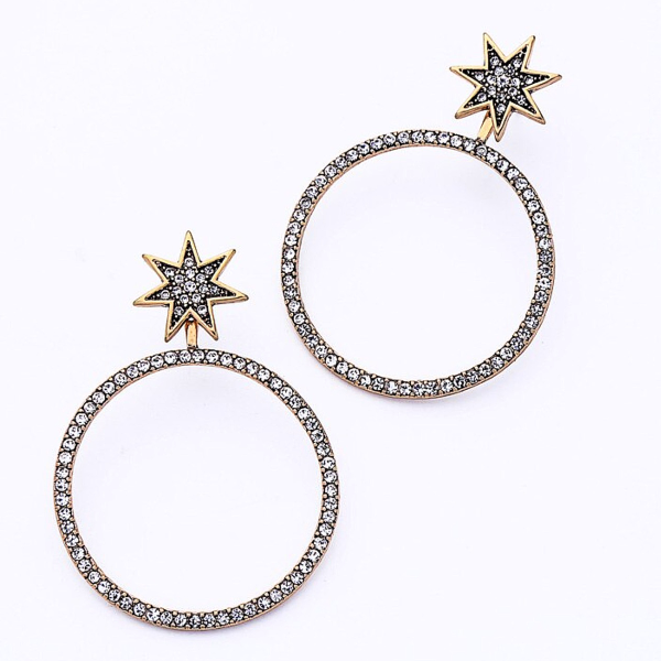 2-in-1 Stud and Hoop Earrings - Glam
