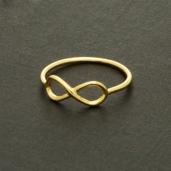 Infinity Ring/Midi - 18K Gold, Silver and Rose Gold Plated