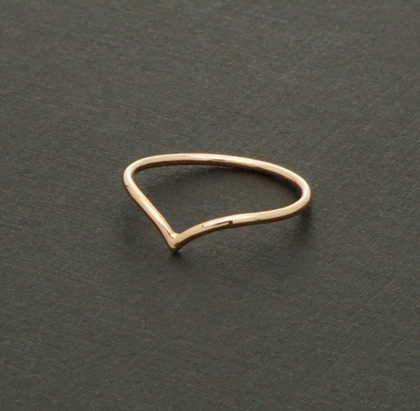 V Dainty Ring/Midi - 18K Gold Silver and Rose Gold Plated