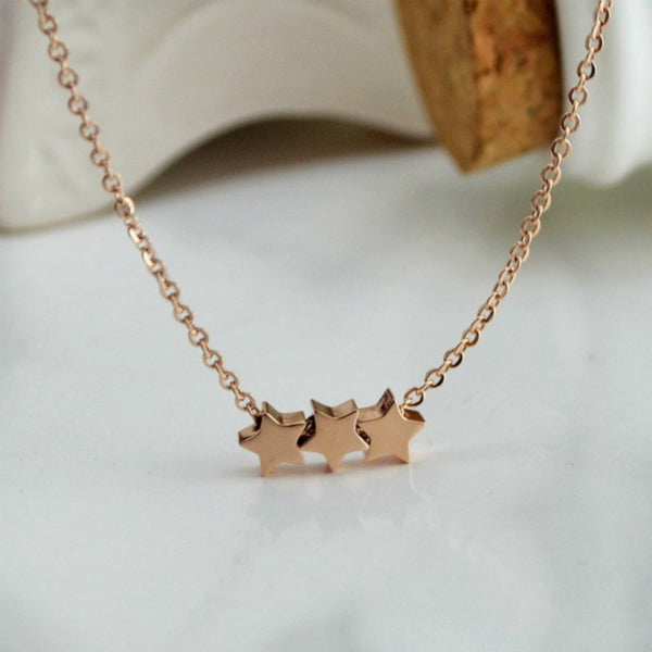 3 Star Dainty Necklace