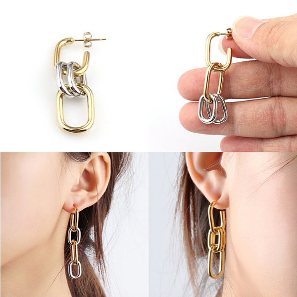 4-in-1 Earrings - Stainless Steel