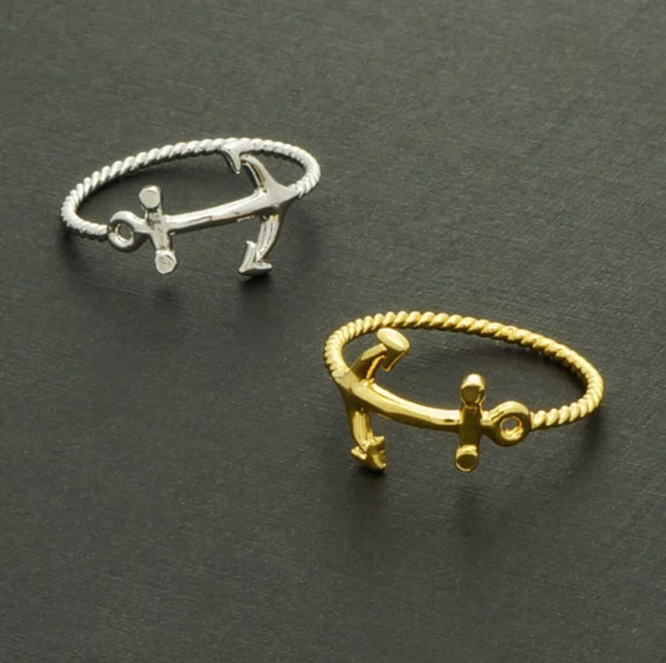 Anchor Ring - 18K Gold, Silver and Rose Gold plated