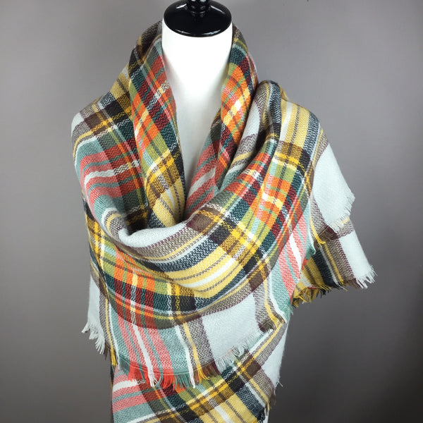 """Fall is in the Air"" Tartan Blanket Scarf"
