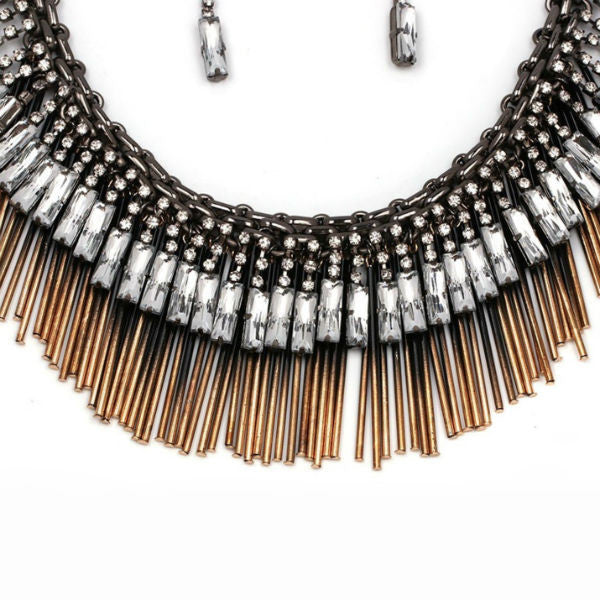 Akira Statement Necklace and Earrings Set
