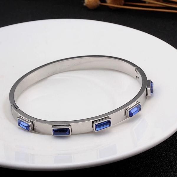 Alistair Bangle Bracelet - Stainless Steel