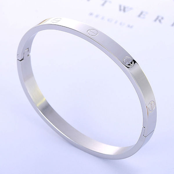 Amour Bangle Bracelets - Stainless Steel