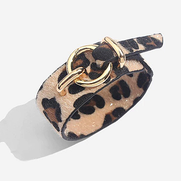Animal Print Bracelet with Buckle