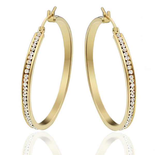 Aria Hoop Earrings - Stainless Steel