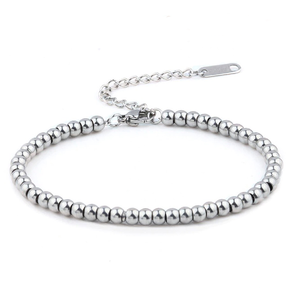 Silver Ball Bracelet - Stainless Steel