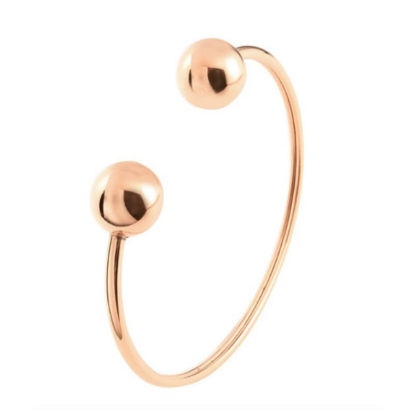 Ball Cuff Bracelet - Stainless Steel