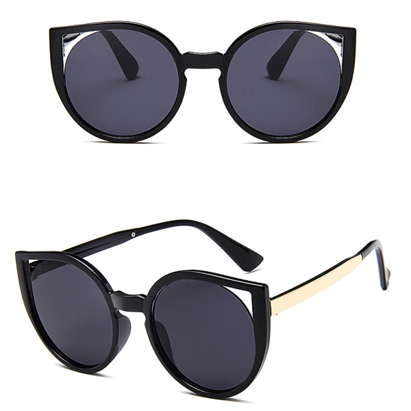 Barcelona Cat Eye Sunglasses - Black