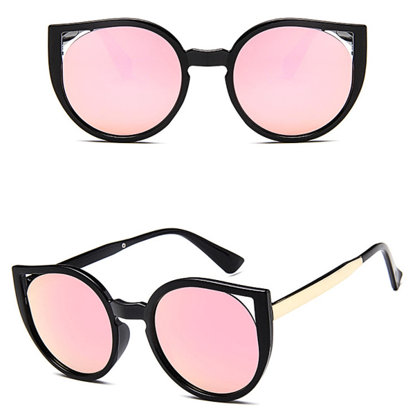 Barcelona Cat Eye Sunglasses - Rose Gold Mirror