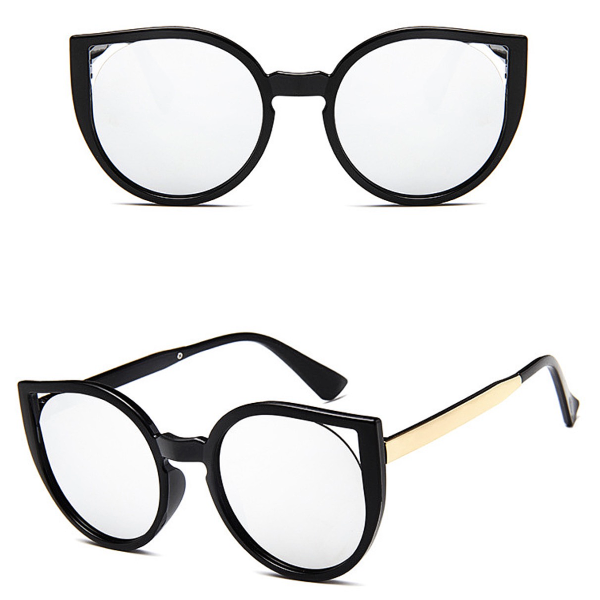 Barcelona Cat Eye Sunglasses - Silver Mirror