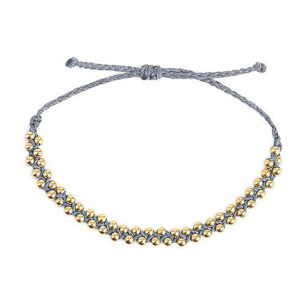 Boho Gold Beaded String Bracelet - Pura Vida