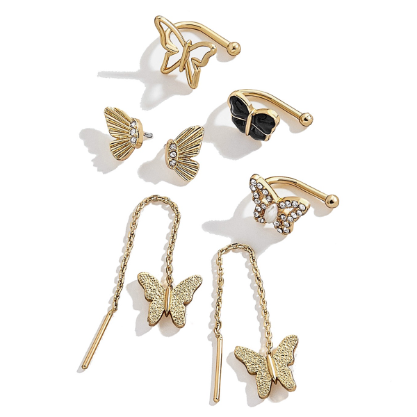 Butterfly - Ear Cuff + Earrings Set