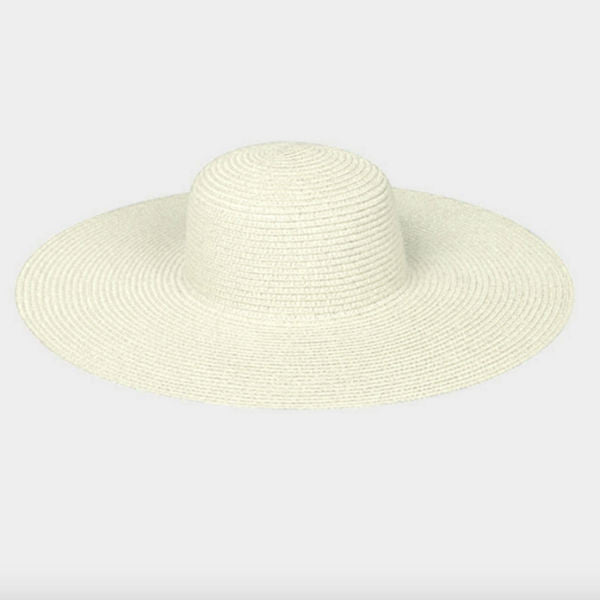 CUSTOMIZE - Ivory Sun Hat w/ Sequins