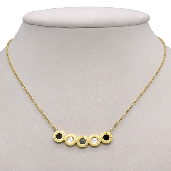Cassia Wide Necklace - Stainless Steel