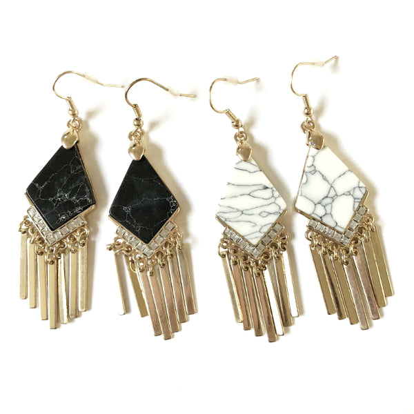 Celeste Marble Effect Earrings