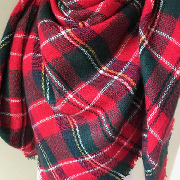"""Christmas Morning"" Blanket Scarf"