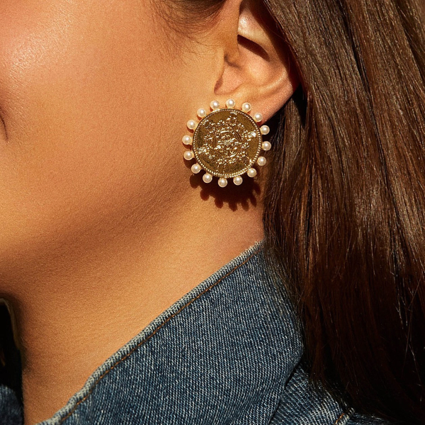 Coin + Pearls Earrings