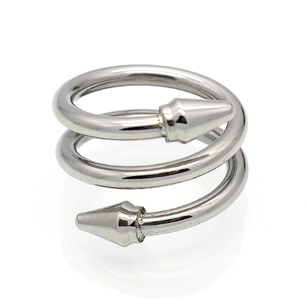 Double Arrow Ring - Stainless Steel