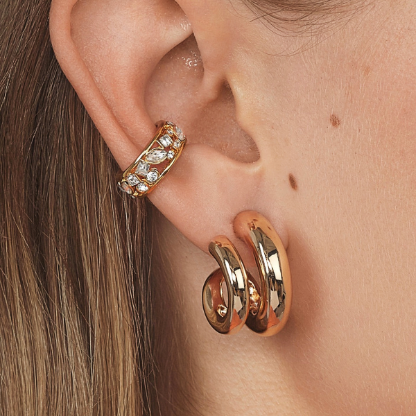 Double Semi-hoop Earrings