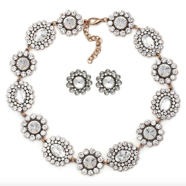 Elizabeth Statement Necklace - Clear
